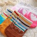 3 par/lote Zapatos Falsos Calcetines de Algodón lindo Del Bebé del Cabrito Al Por Mayor Sólido Piso Interior antideslizante Calcetines Infantiles 7 colores
