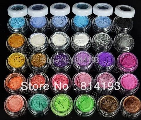 30 Colores de Sombra de Ojos En Polvo de Pigmentos Minerales de Colores de Sombra de Ojos Maquillaje BEMLP