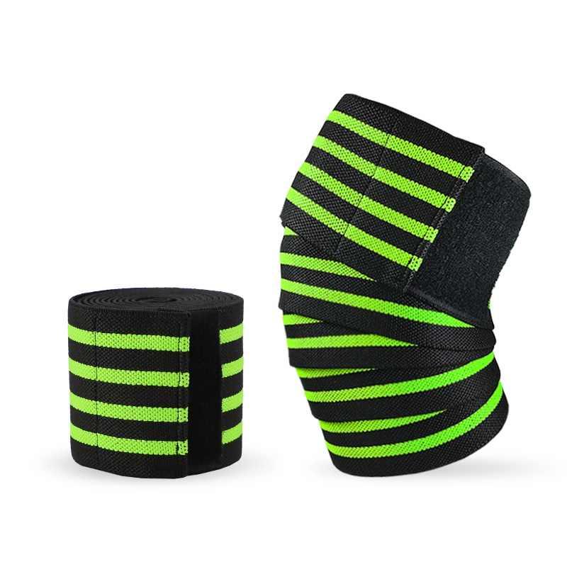 Gym Sports Elastic Knee Wraps Weight Lifting Bandage Straps Guard Pads Unisex US