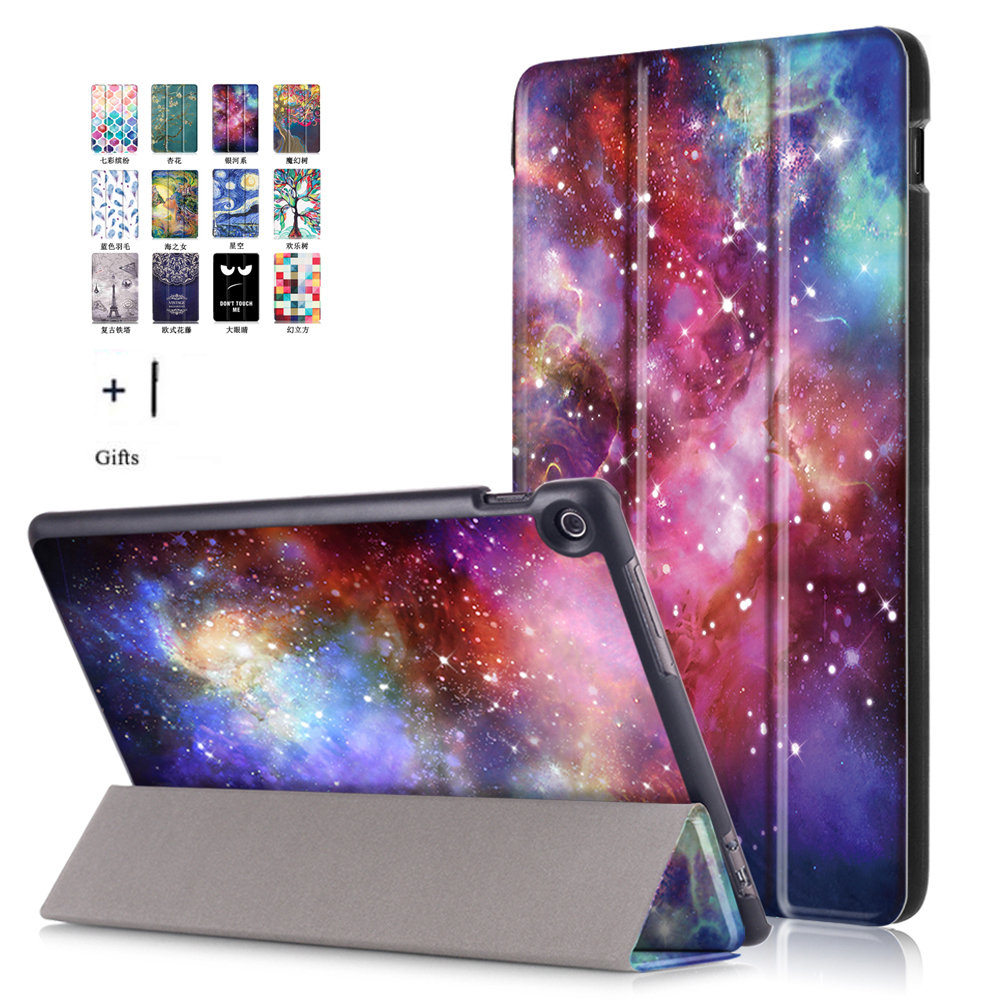 Case For Asus Zenpad 10 Z301MFL 10.1'' Tablet Funda For Asus Zenpad 10 Z300CG Smart Print Flip Leather Cover+Film Stylus asus zenpad 7 0