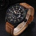 Relojes hombres luxury brand NAVIFORCE reloj de Cuarzo Reloj de buceo 30 M Casual Ejército Militar reloj Deportivo relogio masculino de Cuero Genuino