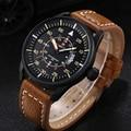 Watches men NAVIFORCE luxury brand Quartz Clock dive 30M Casual Army Military Sports watch Genuine Leather relogio masculino