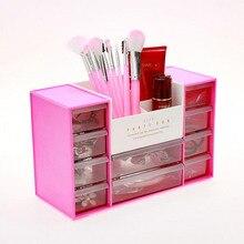 Drawers Acrylic Make-up Organizer Lipstick Nail Polish Clear Plastic Beauty Storage Field For Cosmetics