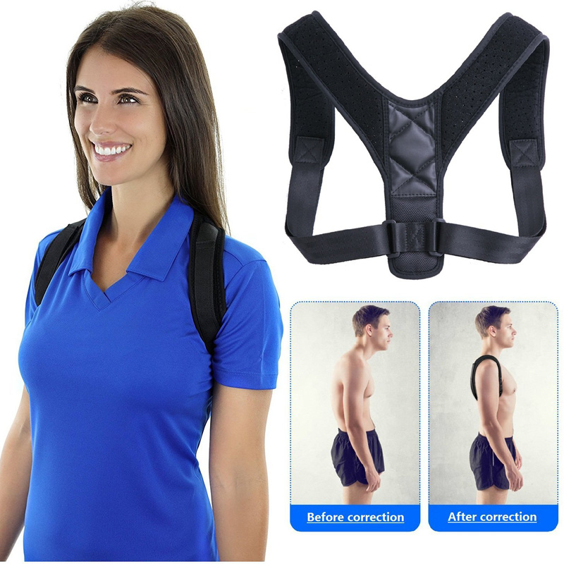 YOSYO Brace Support Belt Adjustable Back Posture Corrector Clavicle Spine Back Shoulder Lumbar Posture Correction girl