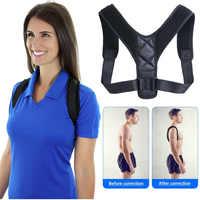 Corrector de postura de espalda ajustable de cinturón de soporte de abrazadera de YOSYO