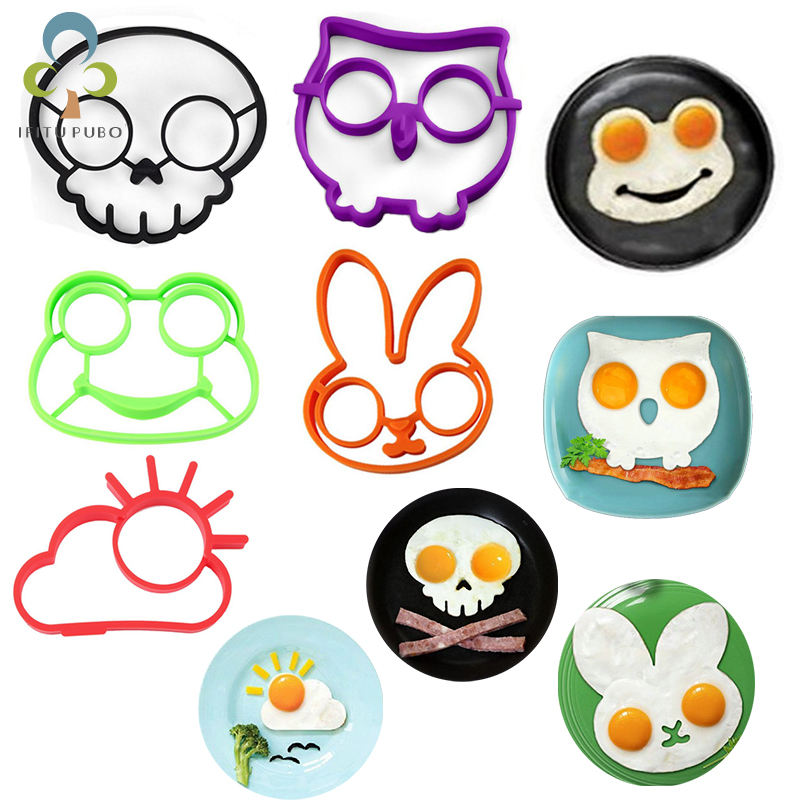 Cooking-Tools Fried-Egg-Mold Omelette-Mould Skull Rabbit Silicone Sunny-Shaped Non-Stick