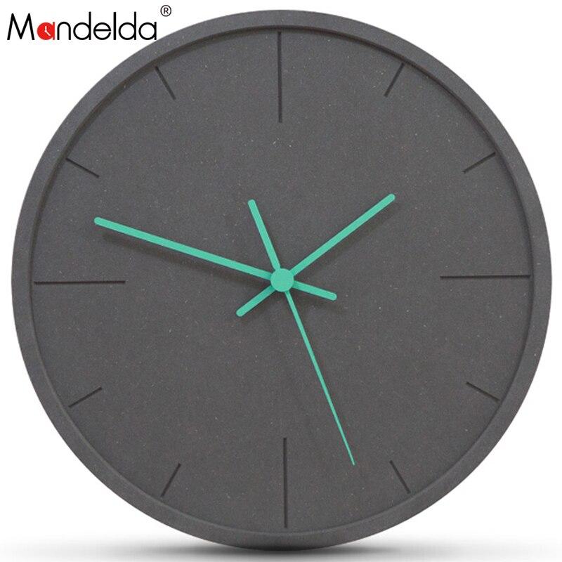 Настенные часы Mandelda, 12 дюймов, современный дизайн, декоративные часы Pendule Murale Orologio Parete, часы Relogio De Parede, домашний декор