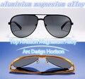 2015Top diseño del arco de aleación de aluminio-magnesio de la aviación horizonte hombres mujeres gafas de sol polaroid gafas de sol polarizadas de conducción espejo