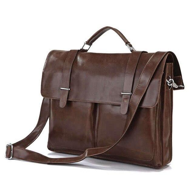 Luxury Genuine Leather Men S Briefcases Office Bag Messenger Shoulder Laptop Briefcase Handbag