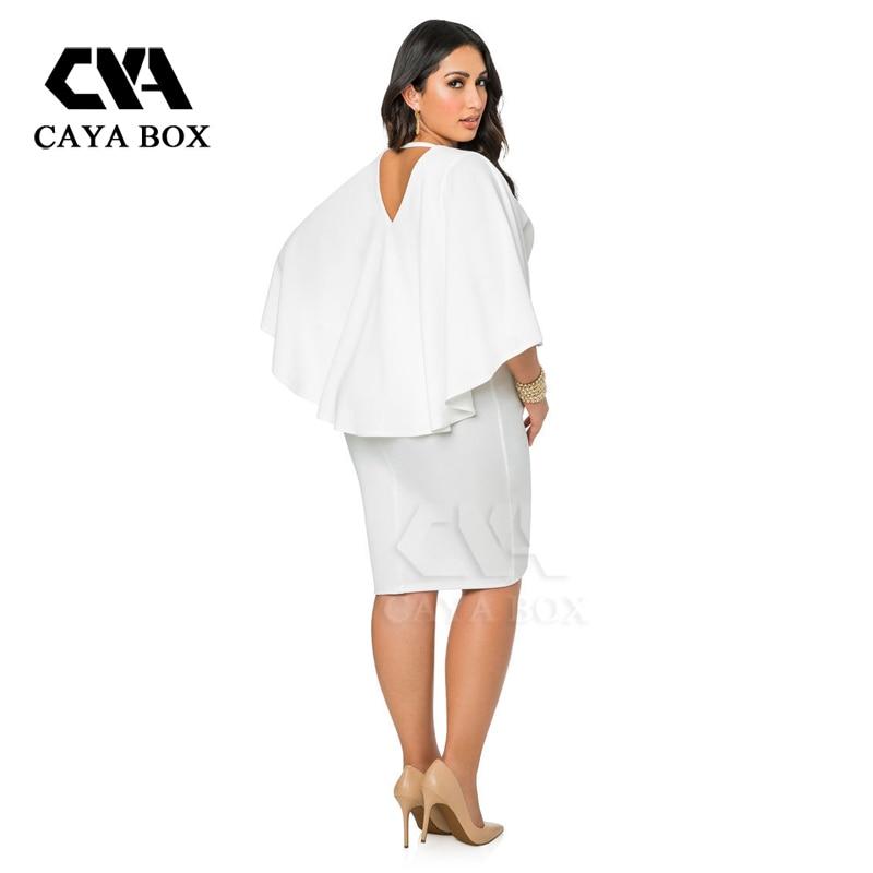 Womens White Plus Size Dresses Xxxl Cape Type Vestidos Casual Dress
