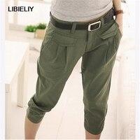 New Vogue Army Green Casual Calf Length Lady pants,fashion Large Size Harem Pants Women Joggers Women Pants TT1225