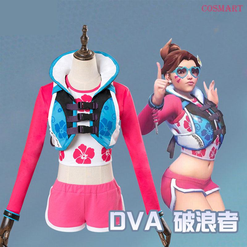 [Mid October]Game OW D.Va DVA Cosplay Costume Hana Song Waveracer Skin Carnival Halloween for Women Girls Free shipping