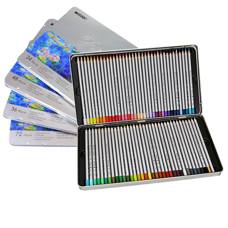 Marco Raffine 72 Colors Lapis De Cor Tin Box Oil Colored Pencil Set For Artist Drawing Painting Sketch School Art Stationery giada de laurentiis recipe for adventure 1 4 box set