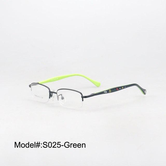 S025 бесплатная доставка половина обод мода близорукость очки очки по рецепту очки RX оптических оправ