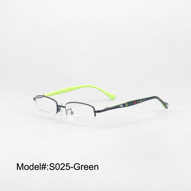 S025 media llanta envío gratis moda miopía anteojos gafas lentes recetados gafas RX marcos ópticos