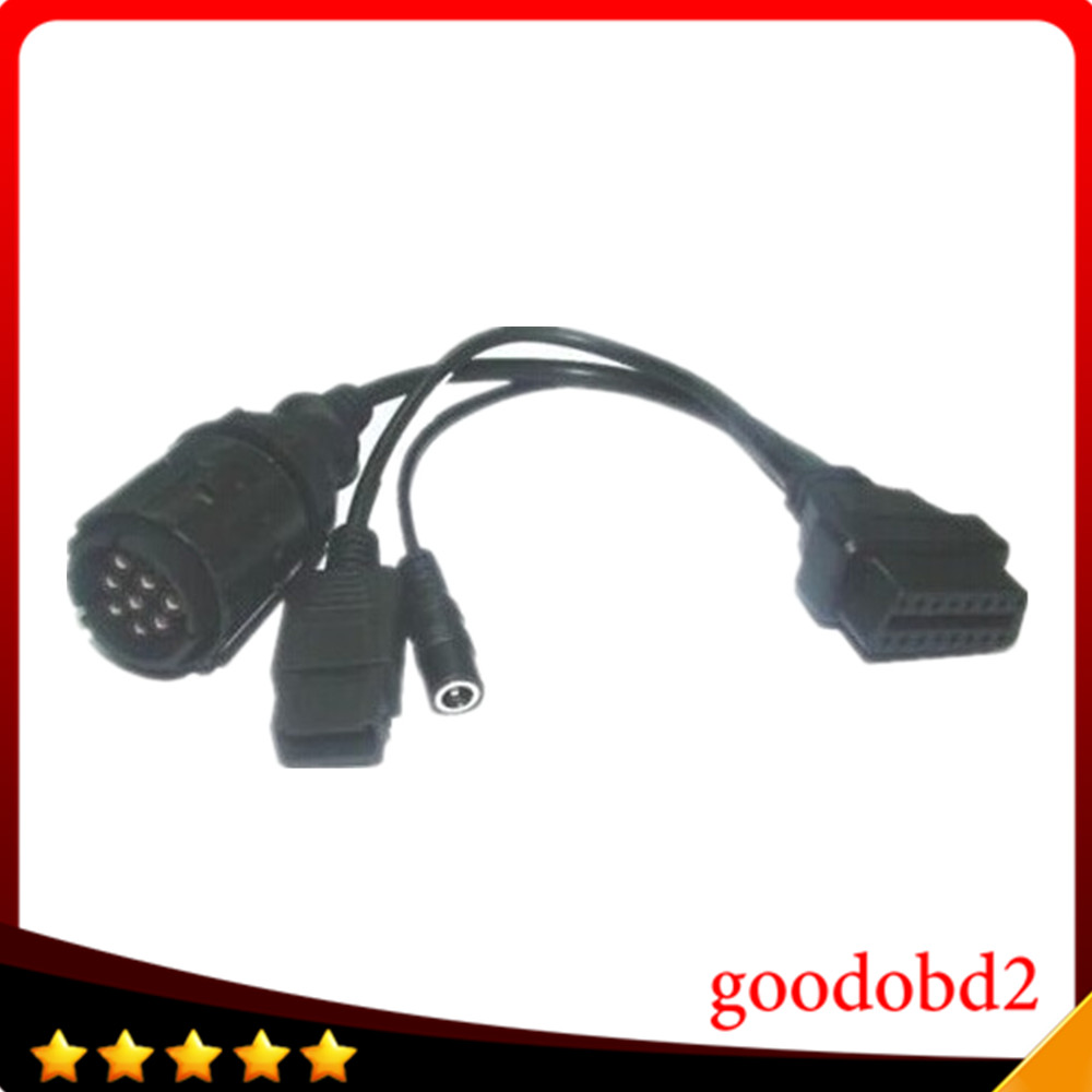 цены  For BMW ICOM D Cable ICOM-D Motorcycles Motobikes Diagnostic Cable for bmw 10 Pin Adaptor to obd2 16pin connect cable