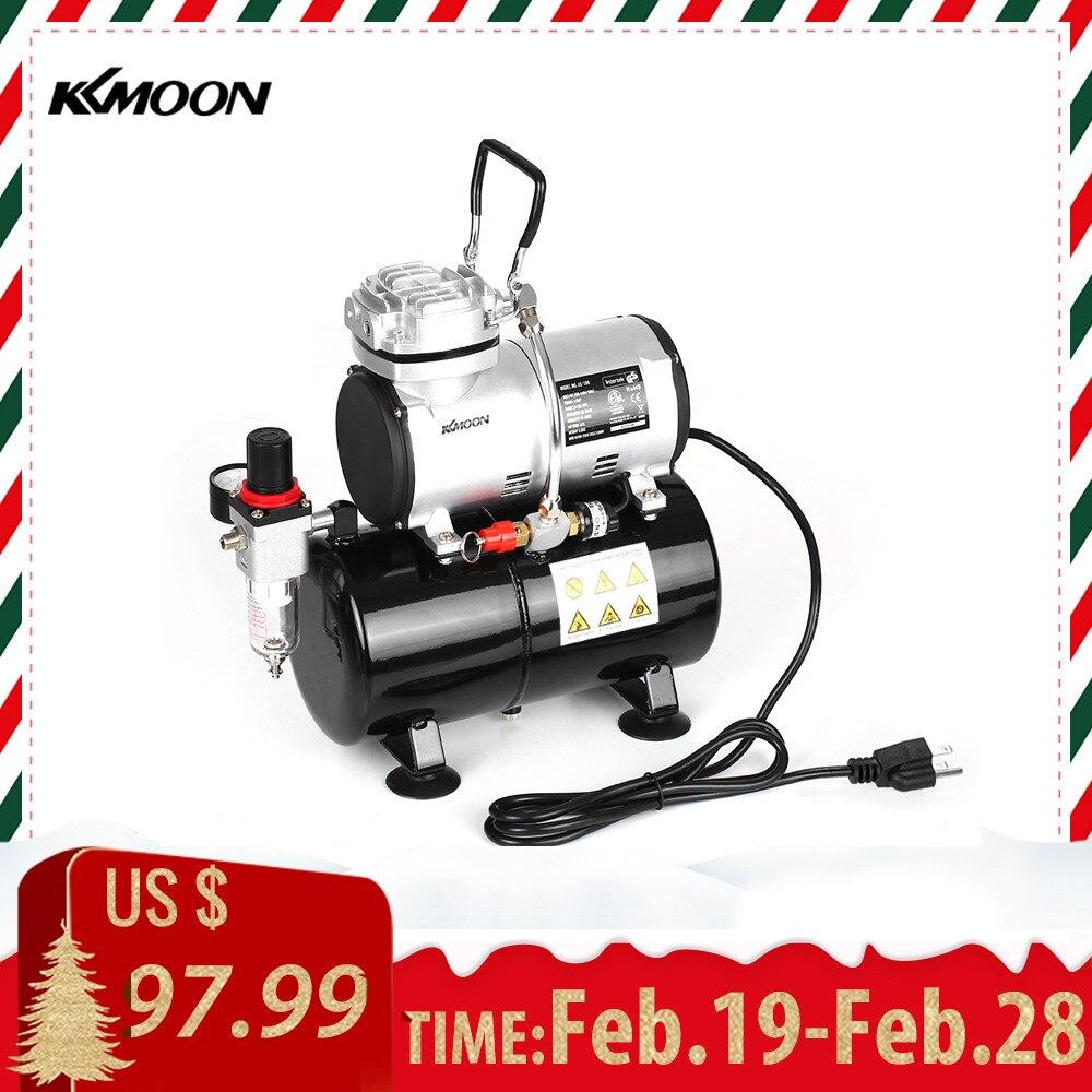 KKmoon A Spruzzo del Compressore D'aria con Serbatoio 1/6 HP Pistone Compressore del Airbrush Oil-less Silenzioso Pompa ad alta pressione Del Tatuaggio manicure