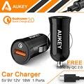 Aukey qc2.0 universal carregador de carro carregador de viagem carga rápida 2.0 portátil adaptador de carregamento para samsung htc iphone pad sony