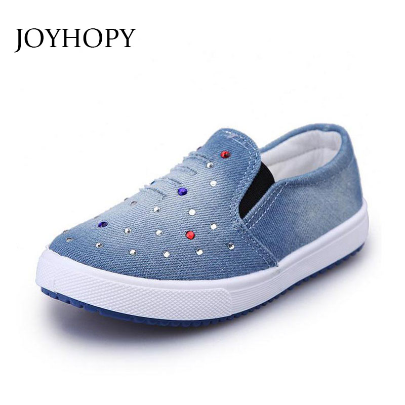 2017 Spring children casual shoes boys girls sport shoes boys sneakers denim kids shoes girl child flat canvas Shoes