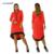 2017 mulheres plus size dress o pescoço pockets casual vestidos na altura do joelho-comprimento plus size mulheres roupas de retalhos bodycon dress