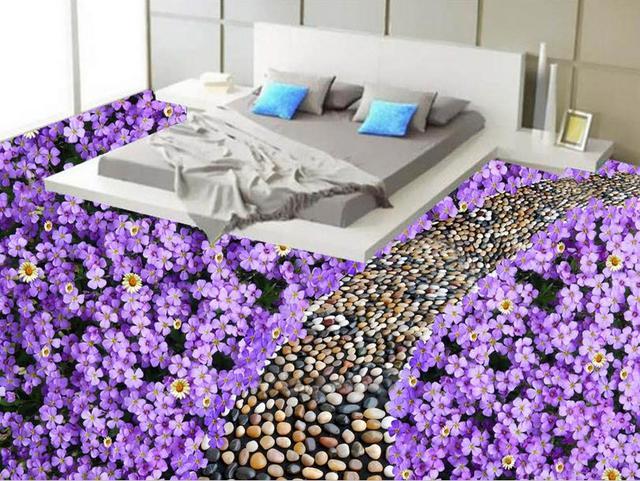 3d Pvc Fußboden ~ Europäische benutzerdefinierte d boden stick romantische lila