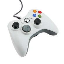 Usb wired controller gamepad joypad blanco para microsoft para xbox & slim de 360 unid para windows 7 caliente en todo el mundo
