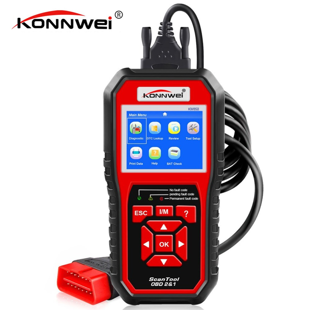 Best OBD 2 Autoscanner OBD2 Scanner KONNWEI KW850 Full ODB2 Scanner Supports Multi-languages ODB 2 Car Diagnostic Scanner Tool obd2 bluetooth adapter elm 327 v 1 5 bluetooth odb 2 car diagnostic scanner elm327 v1 5 obd 2 odb2 autoscanner russian speaking