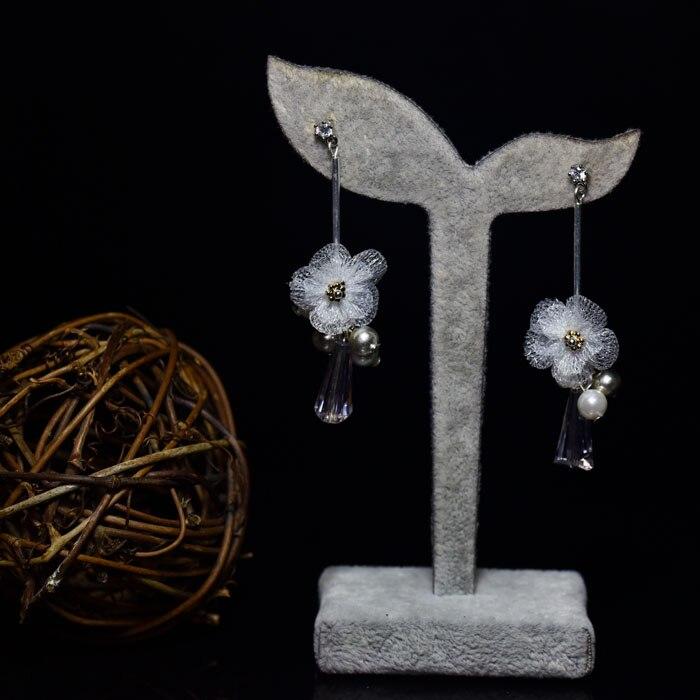 925 female fashion jewelry earrings pendant Tremella flower design new earrings to send to friends to send bestie
