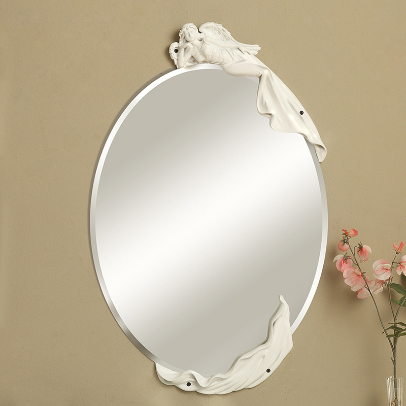 Free Shipping The Beauty Mirrorcreative And Elegant Wall Mirrordecoration For Bedroom Or Bathroom SalonWhite Gold