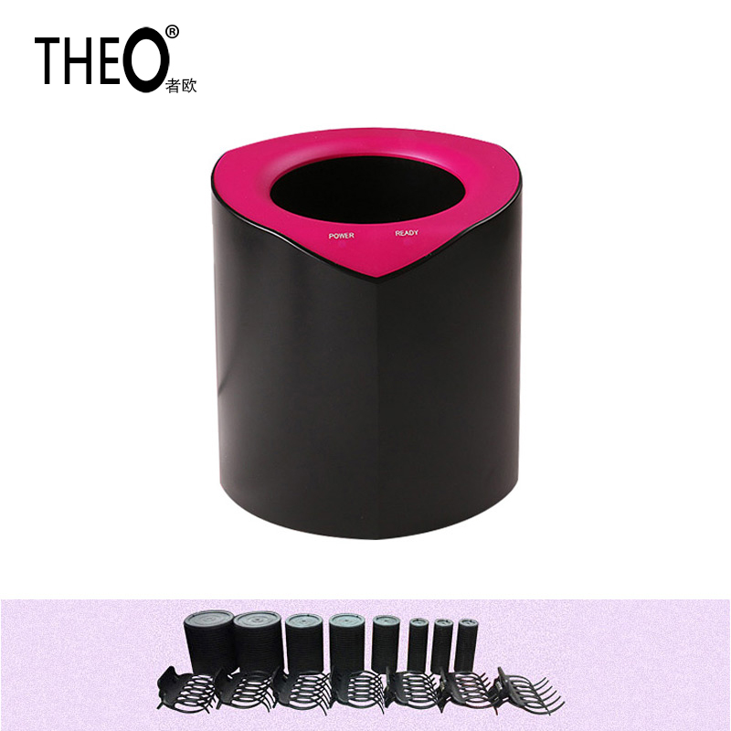 Theo Hair Modeler Wirless Rollers Set Professional Hair Dividers Spiral Irons Machine Innovation Hair Curling Tong HQT-501B ckeyin 9 31mm ceramic curling iron hair waver wave machine magic spiral hair curler roller curling wand hair styler styling tool