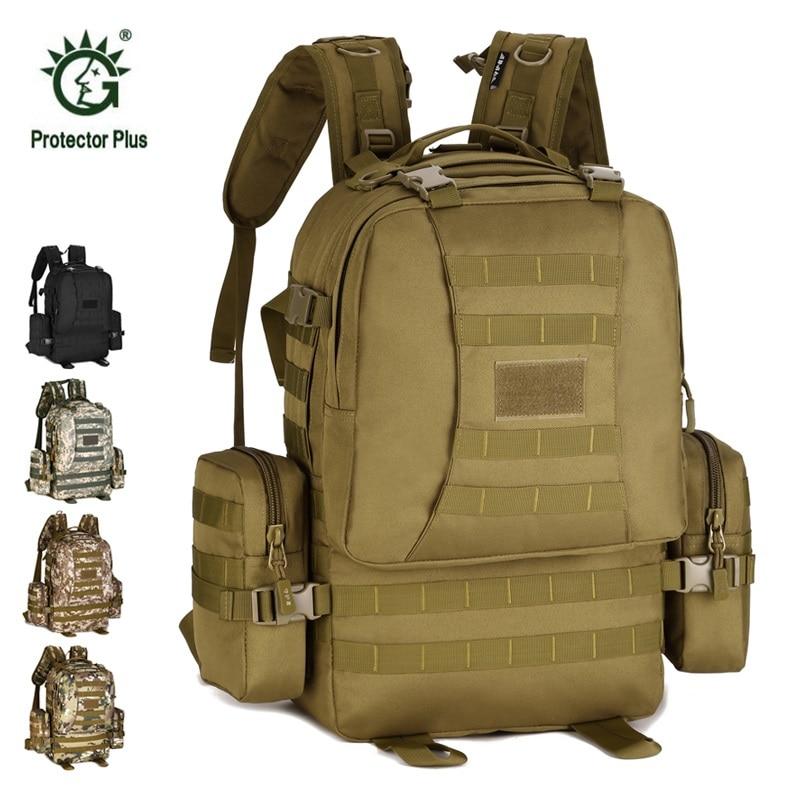 Tactical Bag 50L 33*30*8cm Big Volume Backpack Outdoor Double Shoulder Backpack Waterproof Military Bag Hiking Camping Backpack