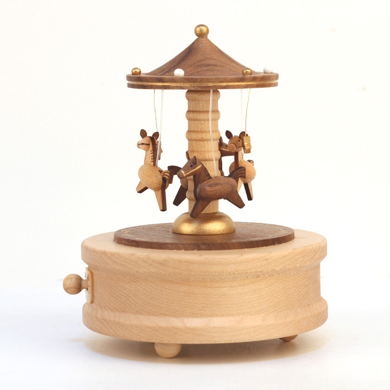 Aliexpress Buy Wooden Carousel Music Boxes Mechanism Horse Carousel Music Box Wedding