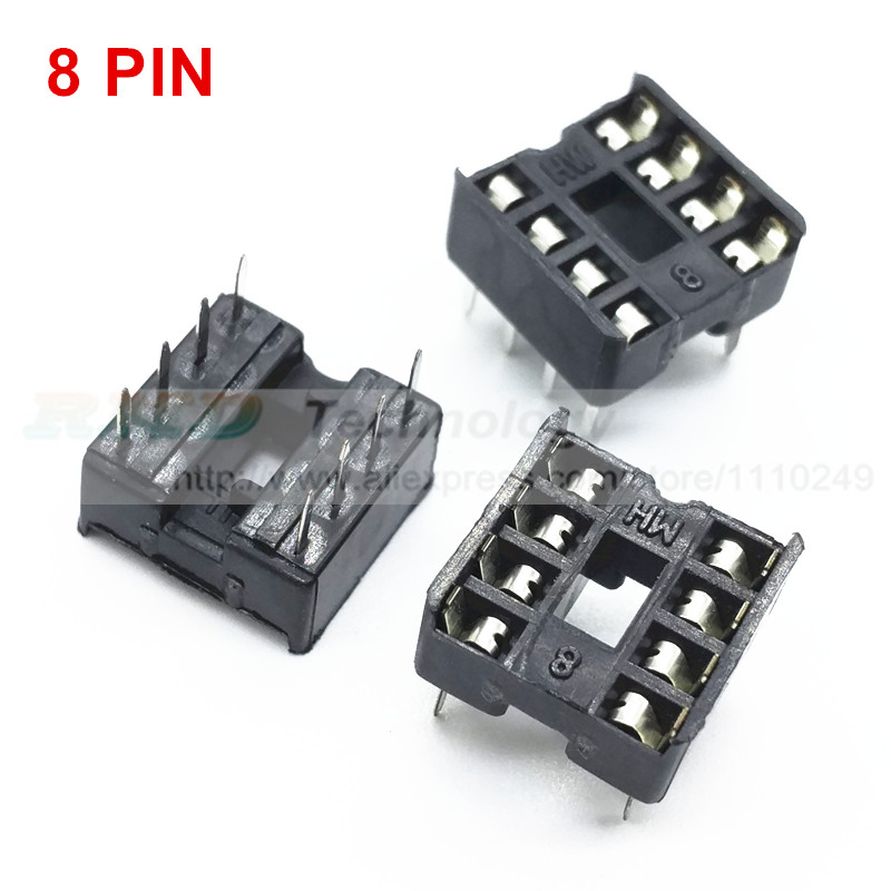 все цены на 8pin ic seat 8pin ic socket chip base ic sockets slot 50pcs/lot free shipping