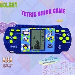 Image 2 - Wolsen Goedkopere Tetris Brick Handheld Game Player Pocket Speelgoed Handige Console Baksteen Game Radio Functie Grote Gift Voor Kid