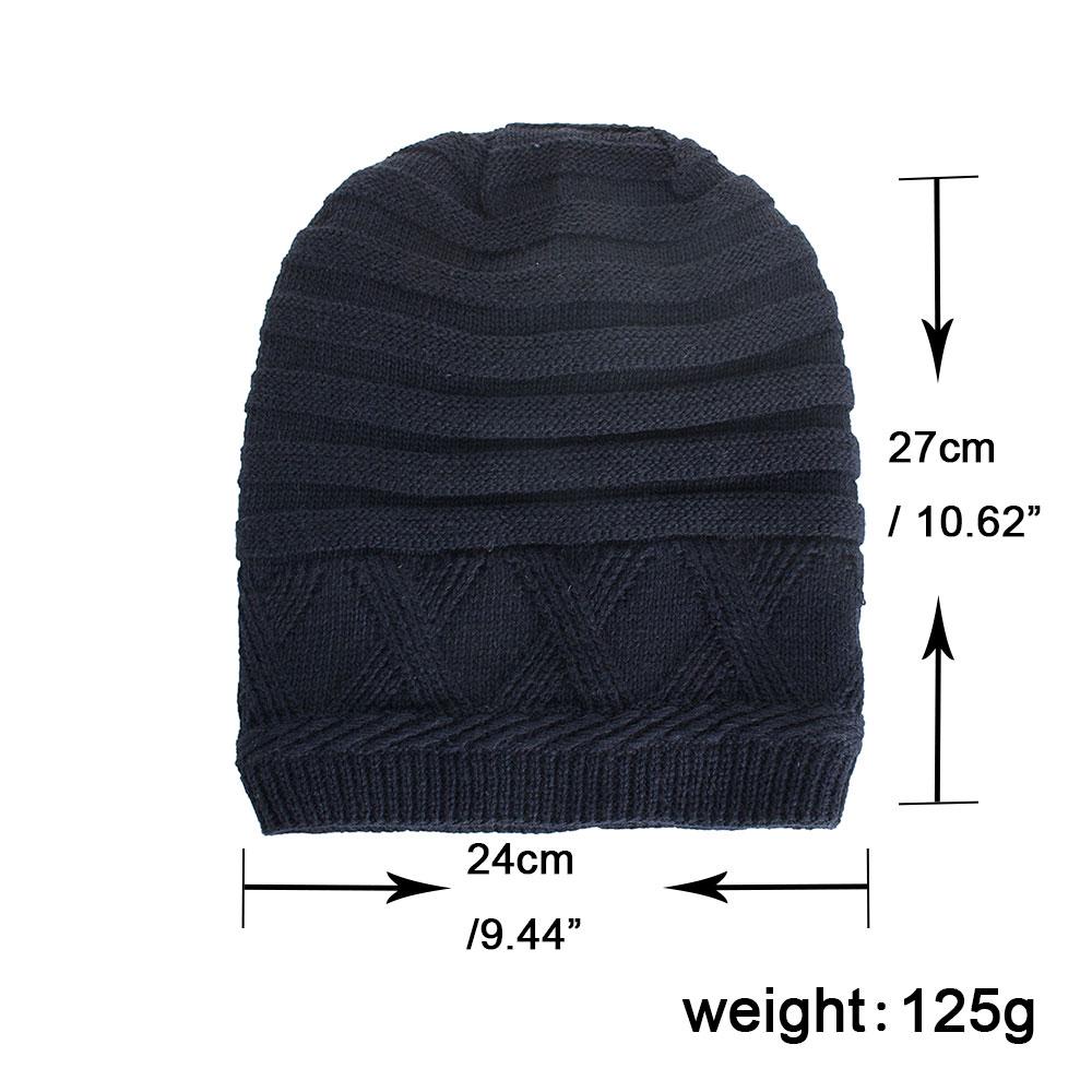 24e165b9ad1 Winter Hat Unisex Skullies   Beanies Knitting Cap Hats Gorro Mens Knit  Beanies