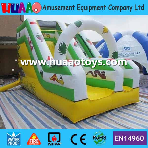 US $1699 0 |Commercial mini jungle inflatable Slide with CE blower and PVC  bag and repair kit with free shipping to door-in Slides from Sports &