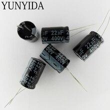22 UF 400 V aluminium kondensator elektrolityczny 10 sztuk