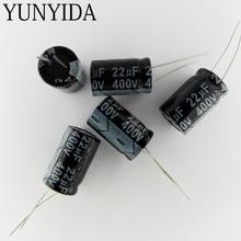 22UF 400V  Aluminum electrolytic capacitor  10pcs