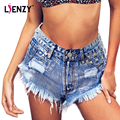 Lienzy apelación americano verano vintage punk mujeres short jeans plata diamantes tumblr rivet ripped denim shorts caliente