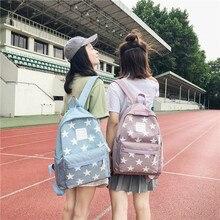 Women Backpack College Students Back Pack Large Pentagram Backpacks For  High School Girls Korea Style Female 24a56ffc14