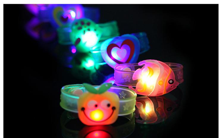 1pcs Cartoon LED Night Light Party Xmas Decoration Colorful LED Watch Toy Boys Girls Flash Wrist Band Glow Luminous Bracelets (10)