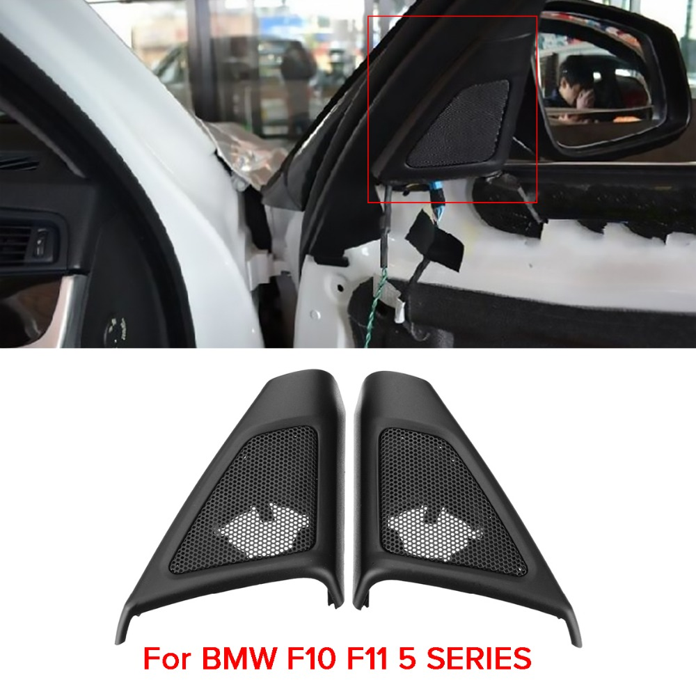 1 Pair Car Front Door Hifi-System Tweeter Horns Cover Case For BMW F10 F11 5 Series 2009 2010 2011 2012 2013 2014 2015 2016 for bmw 5 series f10 f11 2010 2013 bi xenon led module right oe 63117271902
