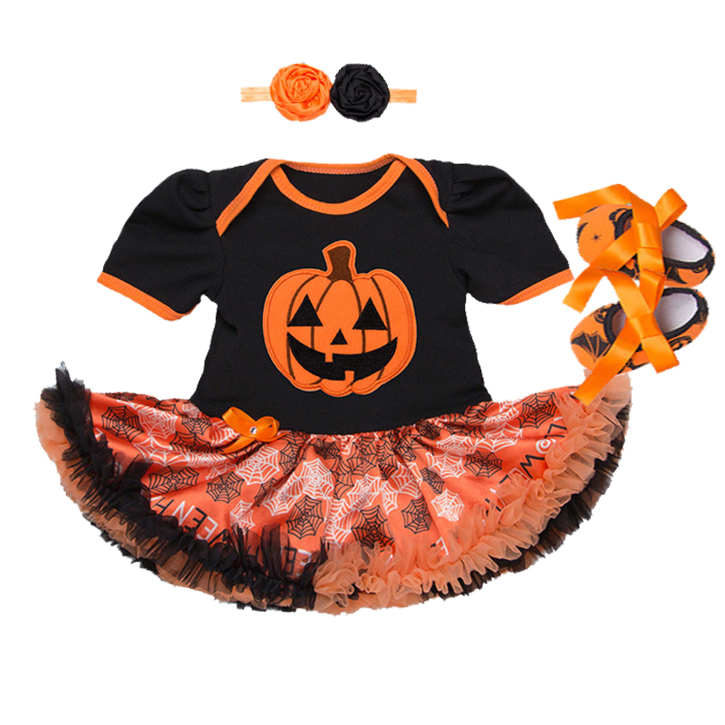 Baby Clothes Halloween Costume for baby Infant Party Dress Tutus Newborn Jumpsuit baby girl Rompers Outfit clothing set+headband newborn baby photography props infant knit crochet costume peacock photo prop costume headband hat clothes set baby shower gift