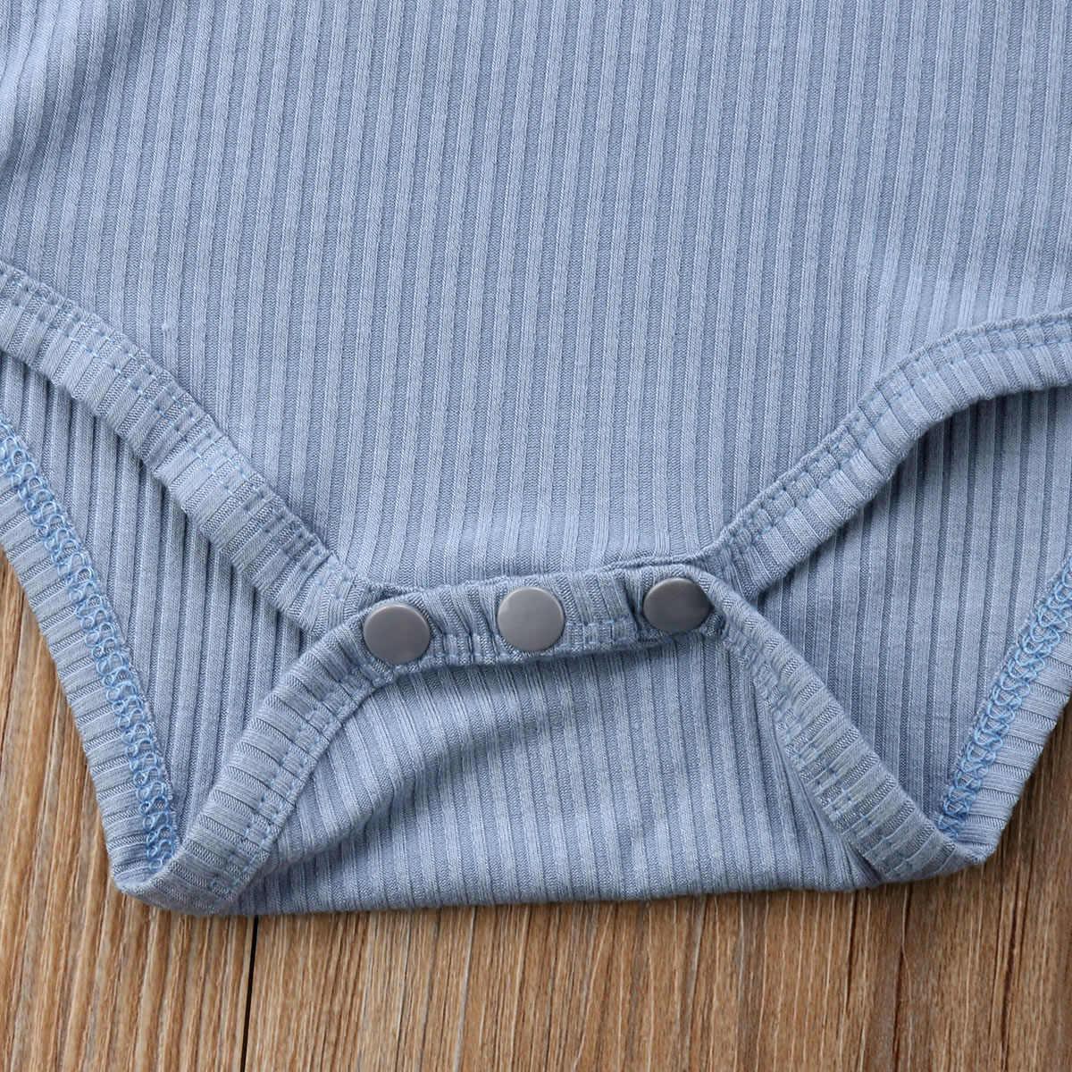 0-24 M Sơ Sinh Tập Đi Cho Bé Bodysuit Bé Trai Gái Không Tay Cotton Bodysuit Áo Liền Quần Bộ Trang Phục Nguyên Chất Màu Casaul Quần Áo 5 màu sắc