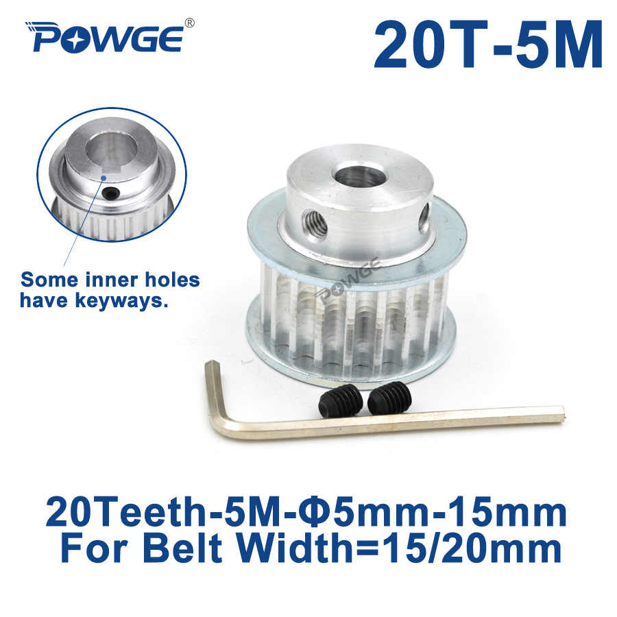 HTD3M20T Aluminum Timing Belt Pulley 20 Teeth 12mm Bore 16mm width Stepper Motor