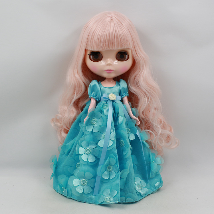 Blyth Nude Doll For Series No 300BL1059 pink Hair Suitable For DIY Change Toy For Girls