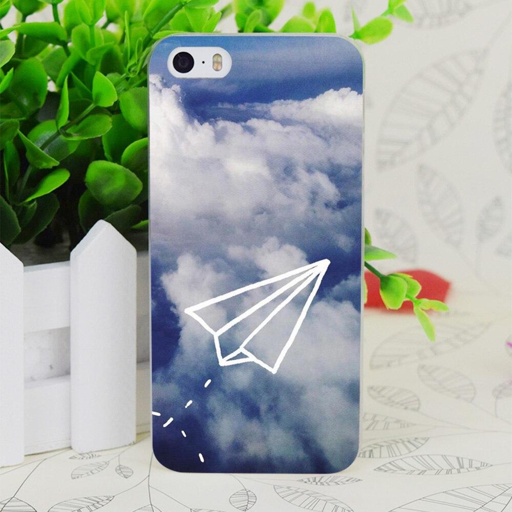 C0890 Бумага плоскости прозрачный жесткий тонкий корпус кожного покрова для Apple IPhone 4 4S 4 г 5 5 г 5S se 5C 6 6 S плюс