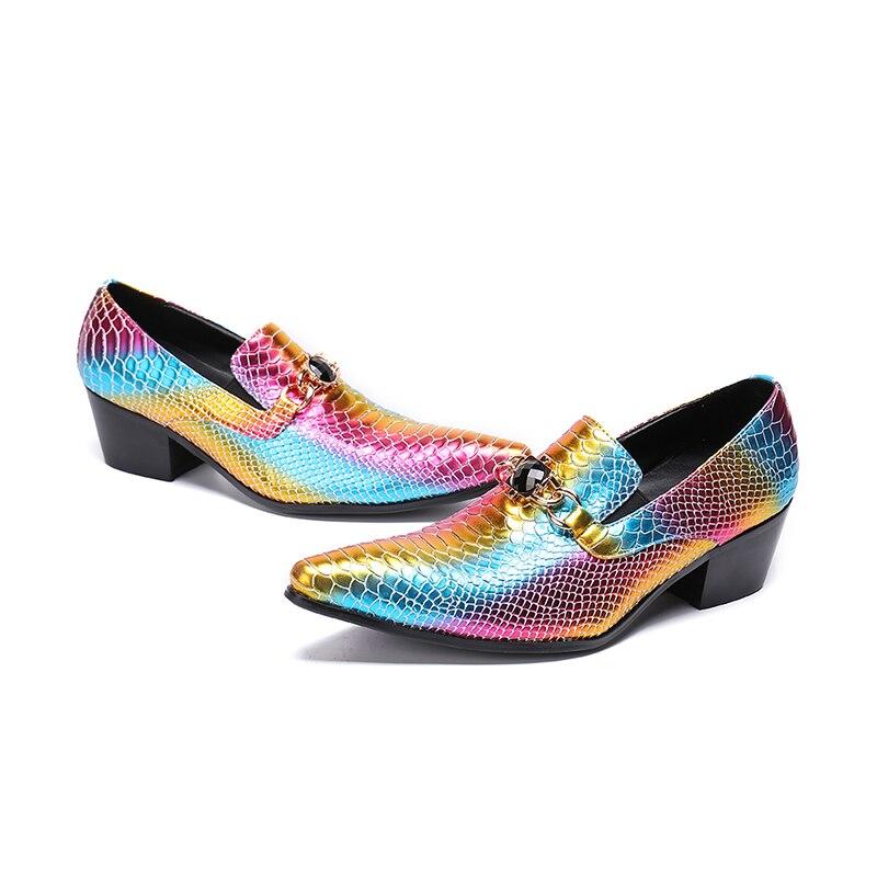 7cf7cc6c1 Se Couro Coloridos Festa Multi Noivo De Vestido Formal Luxo Da Casamento Do colorido  Moda {zorssar} Dos Vestem Homens Sapatos fxH8g