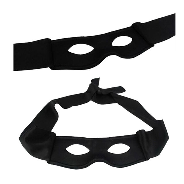 Newly Red Black Party Mask Halloween Supplies Adult Men Women Villain Joke Bandit Zorro Eye