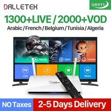 Dalletektv Inteligente Android TV Box Receptores de TELEVISIÓN Árabe IPTV Caja IPTV Canales de Suscripción 1 Año QHDTV Cuenta Europa Francés